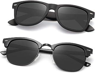 AEVOGUE Polarized Sunglasses For Women And Men Semi Rimless Frame Retro Brand Sun Glasses AE0369