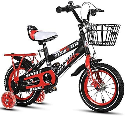 WINNG fürrad Scherzt fürrad des Freistilmädchenjungenkindes Bicycle12 Zoll 14inch16 Inch18inch Im Freien,rot-12inches