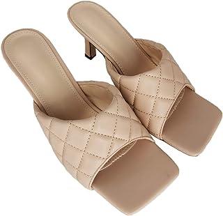 Gonice Womens High Heeled Sandal Slippers