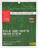 GOOD TO-GO Kale and White Bean Stew - Single Serving | Dehydrated Backpacking and Camping Food | Lightweight | Easy to Prepare