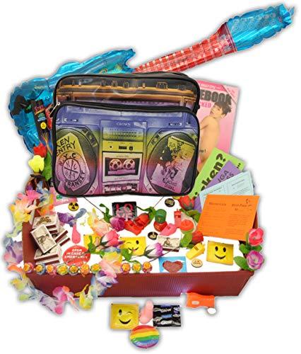 jameitop®Bauchladen Starter SET 80 Teile Verkaufsartikel + Umhängetasche JGA Edition Junggesellenabschied Inhalt