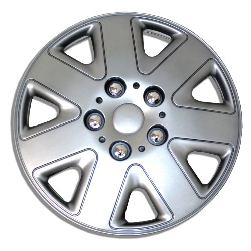 TuningPros WSC-026S16 Hubcaps Wheel Skin Cover 16-Inches Silver Set of 4