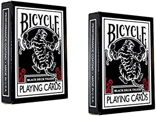 Black Tiger Playing Cards 2-Pack Set by Bicycle