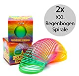 Regenbogenspirale groß XXL im 2er Set | PREMIUM QUALITÄT | 7,5 cm Ø | bunte magische...