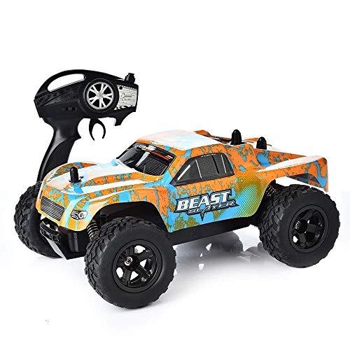 1/24 de alta velocidad de 4 canales RC Buggy RC Car, 4WD 2.4G Drift 45 grados;, todo terreno Amortiguador Escalada antideslizante Grandes neumáticos de carreras de coches RC, Navidad Niños control rem