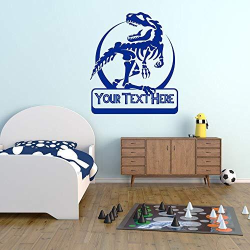 mlpnko Dinosaurier Wandtattoo personalisierte Persönlichkeit Name Cartoon Vinyl Aufkleber Kinder Schlafzimmer Home Dekoration,CJX10707-86x100cm