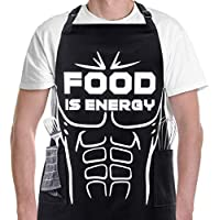 Funny Apron with Pockets (Food is Energy)
