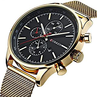 Curren Casual Watch For Men Analog Metal – 8227