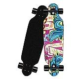 Skateboards Longboard 42 * 9 Pulgadas Principiantes Completa Niños Adultos Tablero Doble Patada Deck 8 Capa Maple Múltiples Diseños Crucero Truck Patineta-Pintada