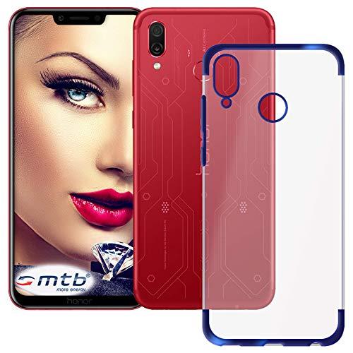 mtb more energy® Custodia Elegance per Honor Play (COR-L29-6.3'') - Blu - Flessibile - Frame Cornice TPU Silicone Case Cover