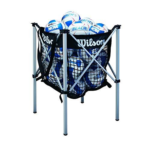 Wilson Beach Volleyball Cart, Black/White, 24 Ball Hold