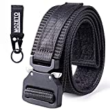 MOZETO Tactical Belt Velco, 1.5' Military Nylon Web Belts for Men Concealed Carry with Heavy-Duty Quick-Release Buckle