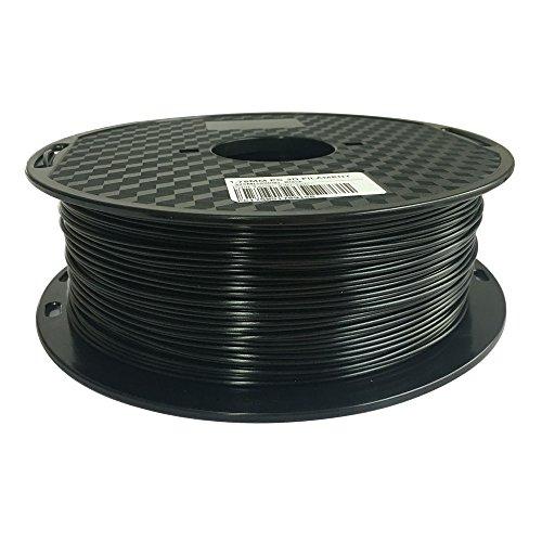 Black PC Filament 1.75 mm 3D Printer Filament 1 KG Spool 2.2LBS Dimensional Accuracy +/- 0.05mm 3D Printing Polycarbonate Material