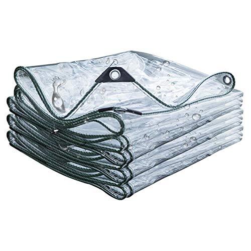 Lonas Impermeables Transparentes,Lona De PVC Resistente A La Lluvia con Ojal,Bordes Reforzados Rip-Stop,Cubierta De Hoja De Tierra Resistente,400 G/M²(Color:T1,Size:2 × 5 m)
