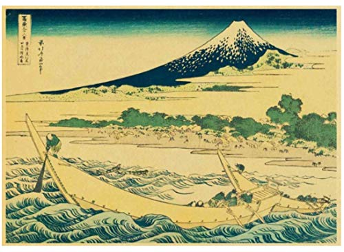DUDUANLIAN Canvas Poster Japanese Old Style Landscape Vintage Posters For Home/Bar/Living Decor Poster Wall Sticker 50 * 70Cm (No Frame) Waterproof and Durable