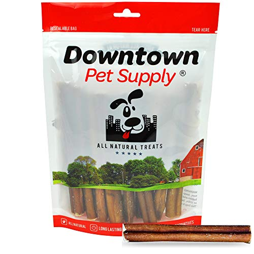 Downtown Pet Supply 6 inch Bully Sticks - Standard Regular Thick Select Dog Dental Chew Treats (18 Pack)