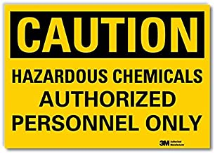 "SmartSign ""Caution - Hazardous Chemicals, Authorized Personnel Only"" Label 