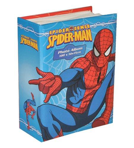 alles-meine.de GmbH Fotoalbum Spiderman klein für 100 Bilder 15 cm * 10 cm gebunden - Photoalbum Kinderalbum Amazing Spider Man Spinne Spider-Man