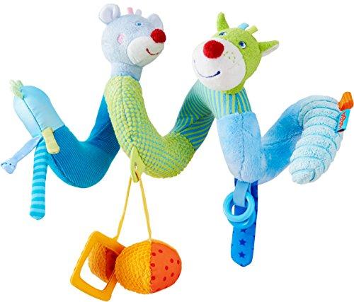 Haba 303881 - mobiele spiraal muis Merle & Draak Duri | speeltrainer van stof met spannende speeleffecten | Baby-speelgoed uit de serie Muis Merle en Draak Duri