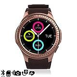 DAM TEKKIWEAR. DMX118RG. Smartwatch Bluetooth L1 Für Ios Und Android Mit Kreisförmigem Display Und Herzmonitor. Gold Rosé