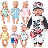 ZITA ELEMENT 7 Stück Puppenzubehör für 43-46cm Babypuppe und 16-18 Zoll American Girl Doll Puppe...