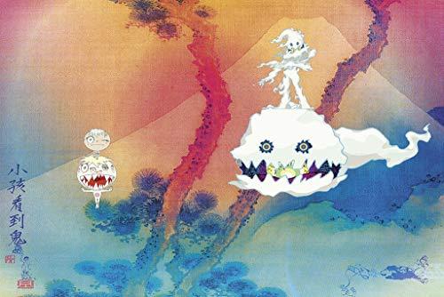Kids See Ghost Album Music Poster 24in x 36in Kanye West & Kid Cudi