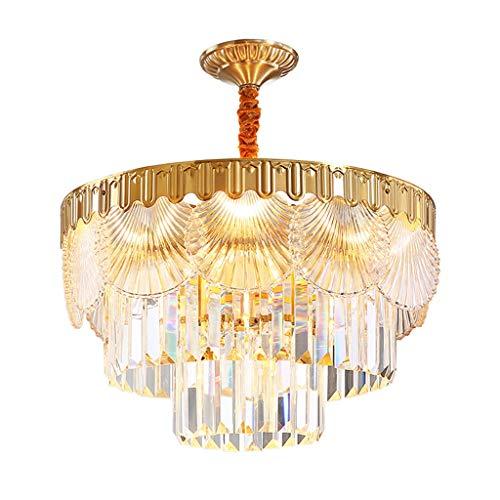 Lámpara de cristal para comedor postmoderna, simple salón de techo de cobre, recepción de lujo, sala de estudio colgante