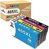 Palmtree Compatibles Cartuchos de Tinta para Epson 405XL Repuesto para Epson Workforce Pro WF-3820DWF WF-3825DWF WF-4830DTWF WF-4820DWF WF-4825DWF Workforce WF-7840DTWF WF-7830DTWF WF-7835DTWF