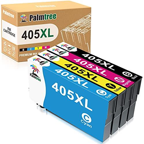 Palmtree Compatibles Cartuchos de Tinta para Epson 405 XL 405XL Repuesto para Epson Workforce Pro WF-3820DWF WF-3825DWF WF-4830DTWF WF-4820DWF WF-4825DWF Workforce WF-7840DTWF WF-7830DTWF WF-7835DTWF