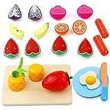yoptote Holzspielzeug Kinderküche Montessori Spielzeug Holz Obst Gemüse Spielküche Zubehör Kinderküche Lernen Spielzeug Rollenspiele Für Geschenk Kinder Mädchen 3 4 5 Jahre