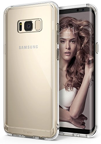 Ringke Fusion Compatible with Galaxy S8 Case Transparent PC Back TPU Bumper Raised Bezels Scratch Protection Qi Wireless Charging Compatible Cover for Galaxy S8 (2017) - Clear