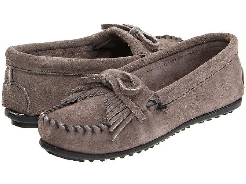 時代夕方コジオスコ(ミネトンカ) MINNETONKA 靴?シューズ レディースフラッツ Minnetonka Kilty Suede Moc Medium Grey Suede US 7.5 (24.5cm) W