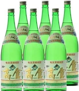 黒糖焼酎 高倉 30度1800ml瓶 1ケース(6本)
