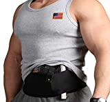 Black Stars Elastic Waistband Holster for Women Men - Comfortable Concealed Carry Belly Band Holster for Pistols Revolvers - Gun Holder
