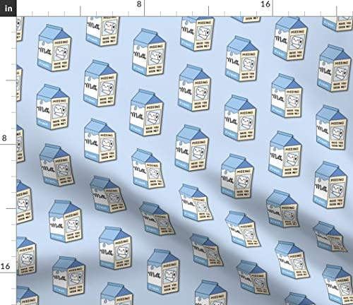 Spoonflower Fabric - Medium Missing Kitchen Milk Corona Coronavirus Pandemic Printed on Modern Jersey Fabric by The Yard - Fashion Apparel Clothing with 4-Way Stretch