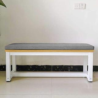 LRuilo Cojín largo para banco de 5 cm de grosor, cojín largo para silla de 2 o 3 plazas, almohadilla para muebles de jardín, columpio de patio, interior y exterior (gris oscuro, 80 x 40 cm)