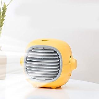 YJHH Móvil Climatizador Evaporativo Ventilador, Mini Enfriador De Aire, Multifunción USB Silencioso Ajustable para El Hogar/Oficina/Habitación