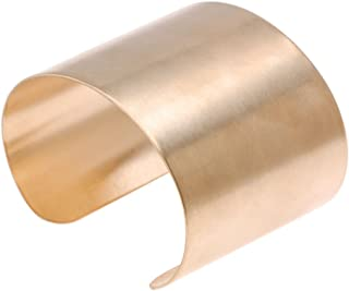 Beadaholique 1 Piece Solid Brass Flat Cuff Bracelet Base, 50.8mm
