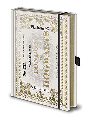 Harry Potter - Hogwarts - Express Ticket - Offizielles Lizenz-Notizbuch im handlichen A5 Format - Größe 15x21 cm