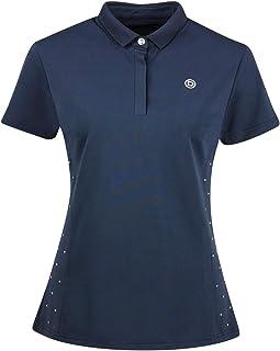 DUBLIN Garnet Short Sleeve Polo Navy Ladies 2XSMALL Horse Rug