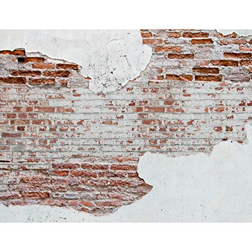Fototapete Steinwand 352 x 250 cm Vlies Tapeten Wandtapete XXL Moderne Wanddeko Wohnzimmer Schlafzimmer Büro Flur Weiss Braun 9083011a
