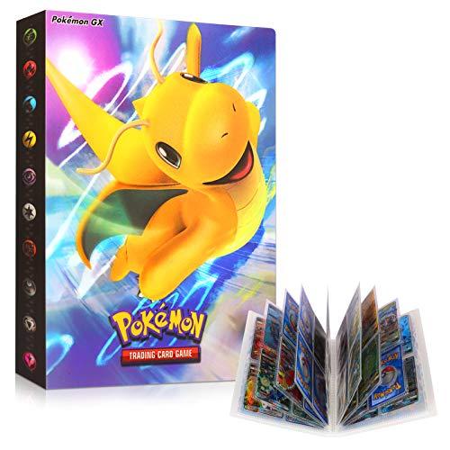 Sinwind ÁLbumes de Tarjetas Coleccionables, Pokemon Cartas Álbum, Comercio Tarjeta Álbum, Álbum de Cartas Coleccionables, Pokémon Titular de Tarjetas (Dragonite)