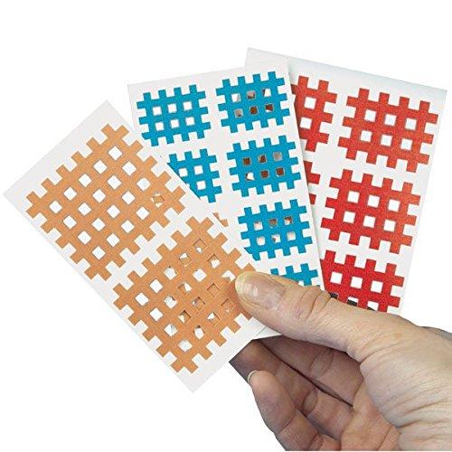 Servoprax S8 ATC3 AQ Strip Gittertape 20 x 2 Pflastern, 4.5 x 4.5 cm, hautfarben