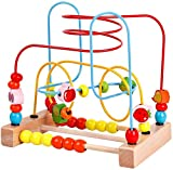 Best Bead Mazes - bodolo Wooden Fruits Bead Maze Roller Coaster Game Review