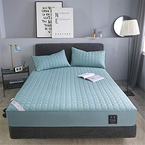 YCDZ Mattress Protective Cover, Anti-allergic, Breathable, Anti-bugs and Mites, No Odor, Suitable for All Bed Types (Fresh green,150x200x15cm)