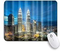 VAMIX マウスパッド 個性的 おしゃれ 柔軟 かわいい ゴム製裏面 ゲーミングマウスパッド PC ノートパソコン オフィス用 デスクマット 滑り止め 耐久性が良い おもしろいパターン (2階建ての超高層ビル)