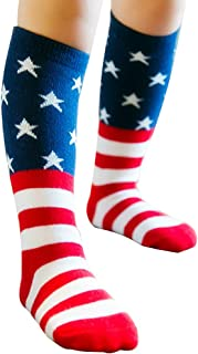 USA Flag Kids Socks Star Socks Knee High Sock for Boys Girls Baby Toddler Child