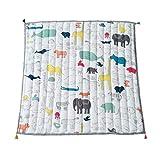 Manyao - Alfombra de juegos plegable para bebé, alfombra de juegos infantil, algodón, para niños, 120 x 120 cm