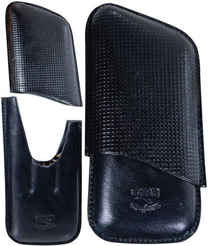 3 Finger cigar leather case Black genuine Sales results No. 1 Memphis Mall Italian -