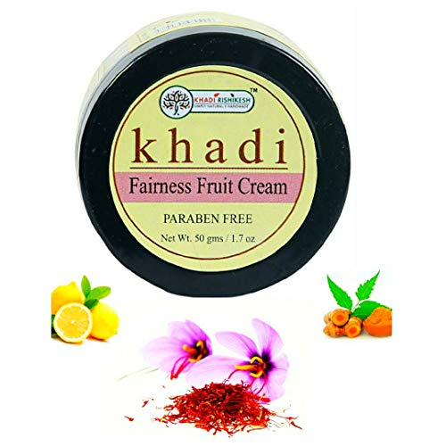 Khadi Rishikesh Herbal Fairness fruit face cream for reduce black spots, wrinkles, acne, dark circle,aging reduces blemishes ,protect skin from sun ,lightens skin tone ,paraben free-boys & girls and men & women (50 gm)